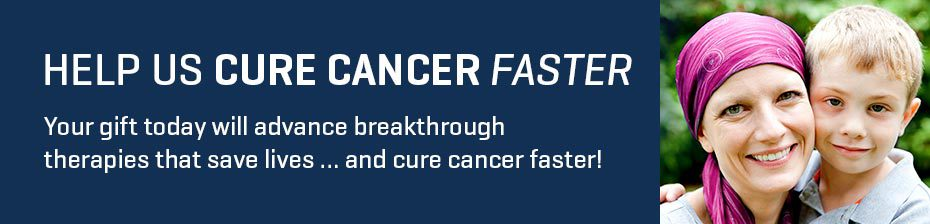 HELP US CURE CANCER FASTER